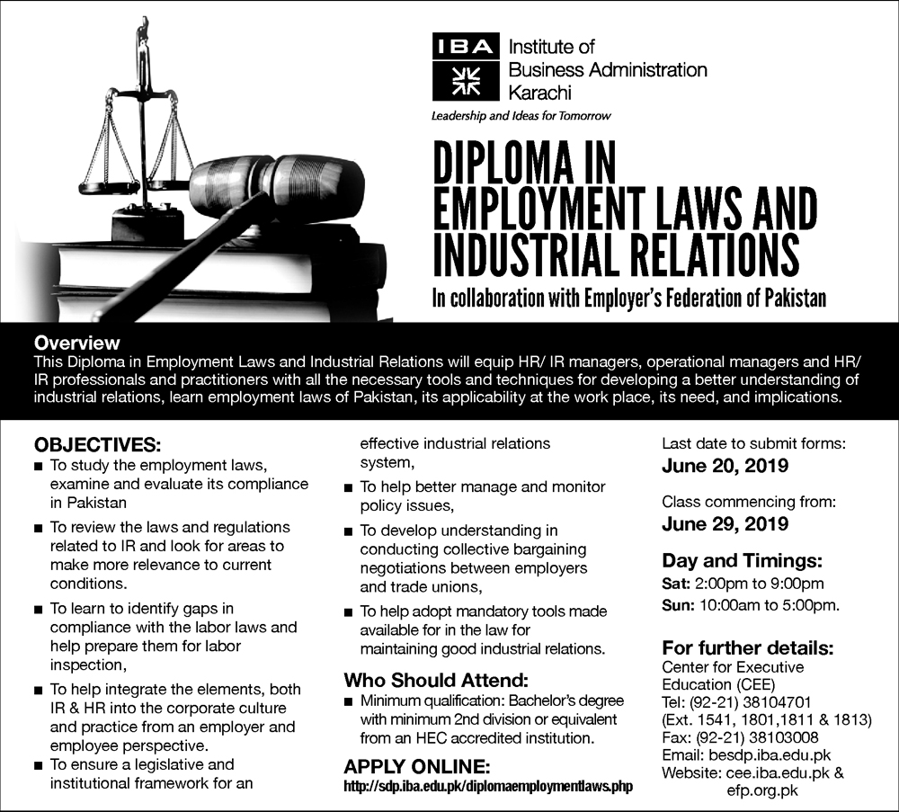 Diploma in Employment Laws and Industrial Relations