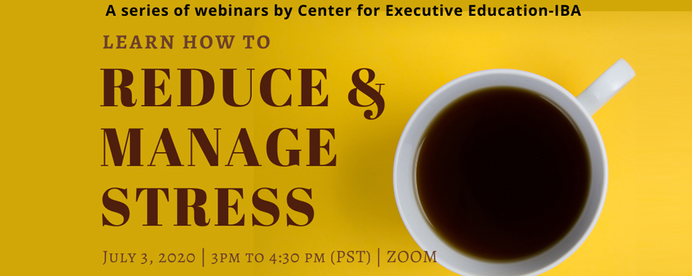Webinar on How to Reduce & Manage Stress
