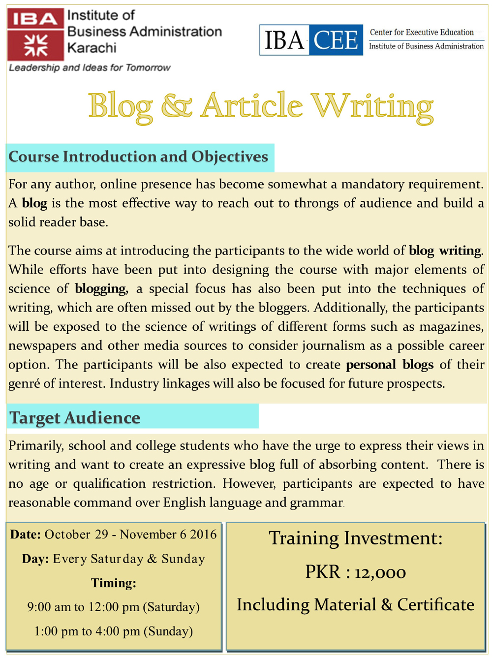 Blog & Article Writing