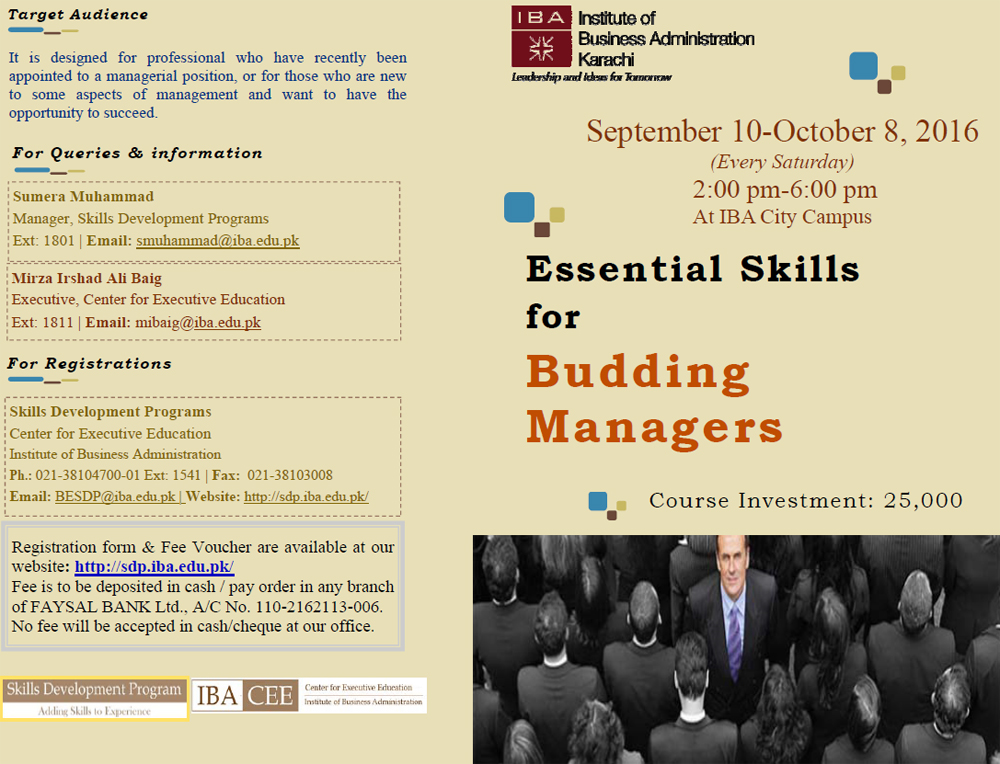 Essential Skills for Budding Managers