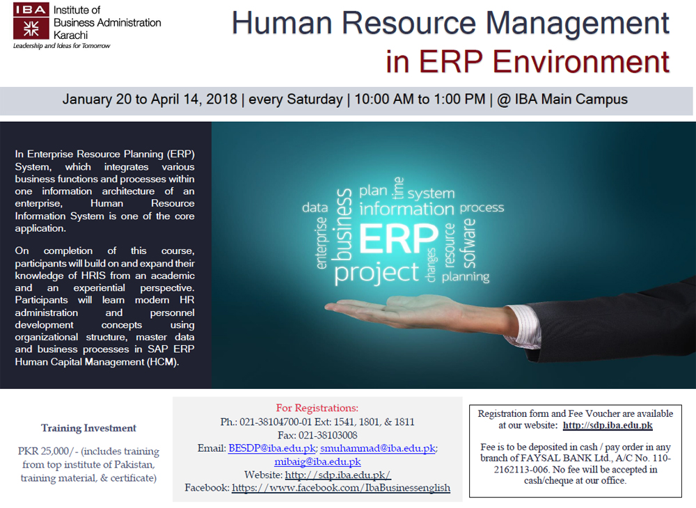 Human Resource Management in ERP Environment