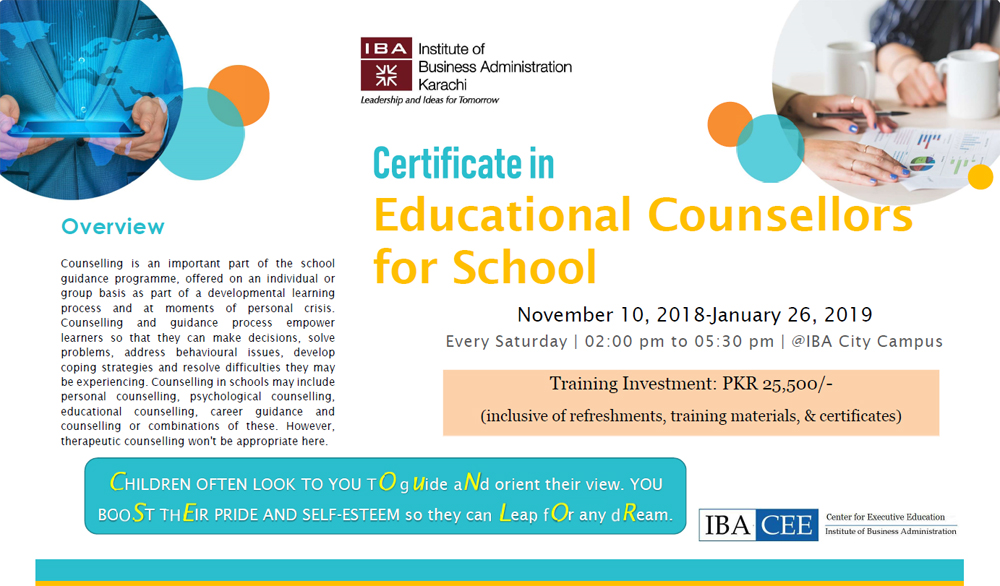 Certificate in Educational Counsellors for School