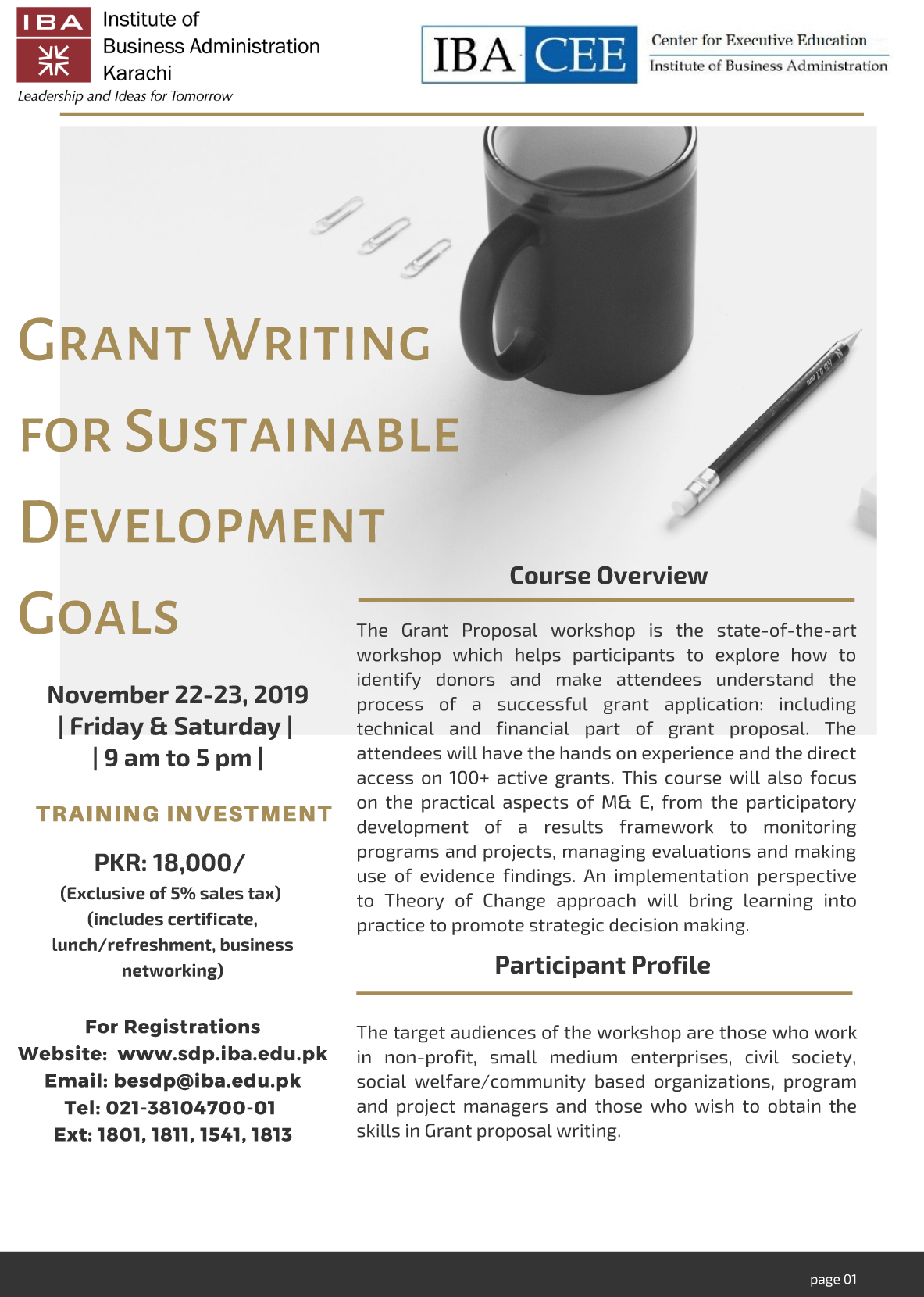 Grant Writing for Sustainable Development Goals